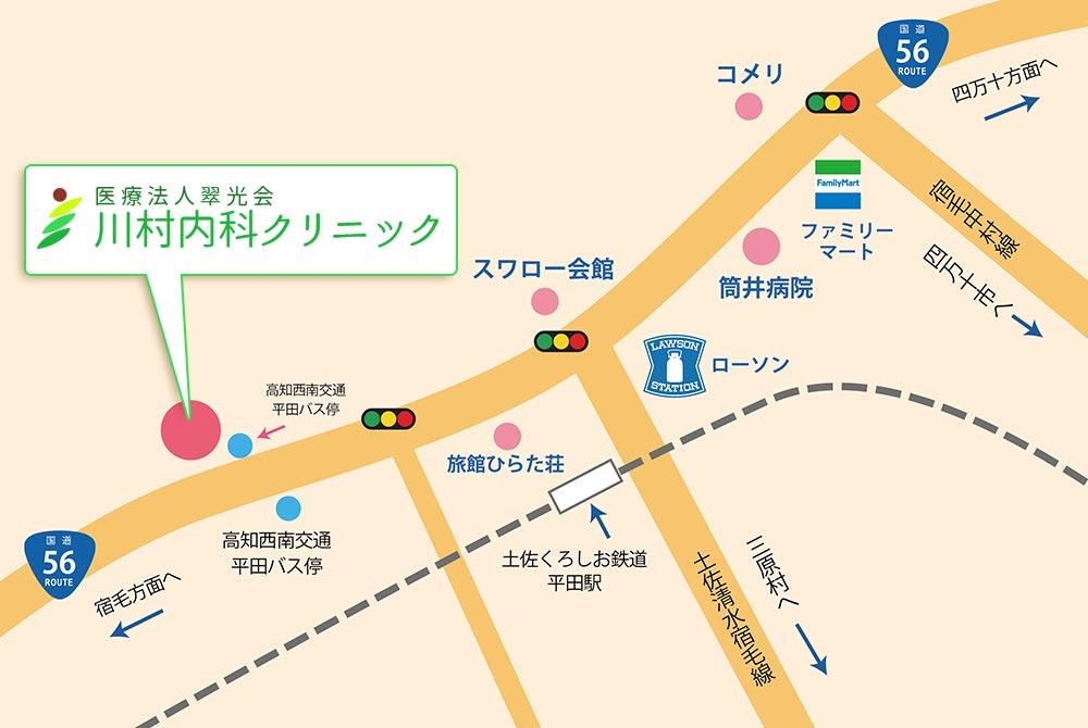 川村内科クリニックの地図