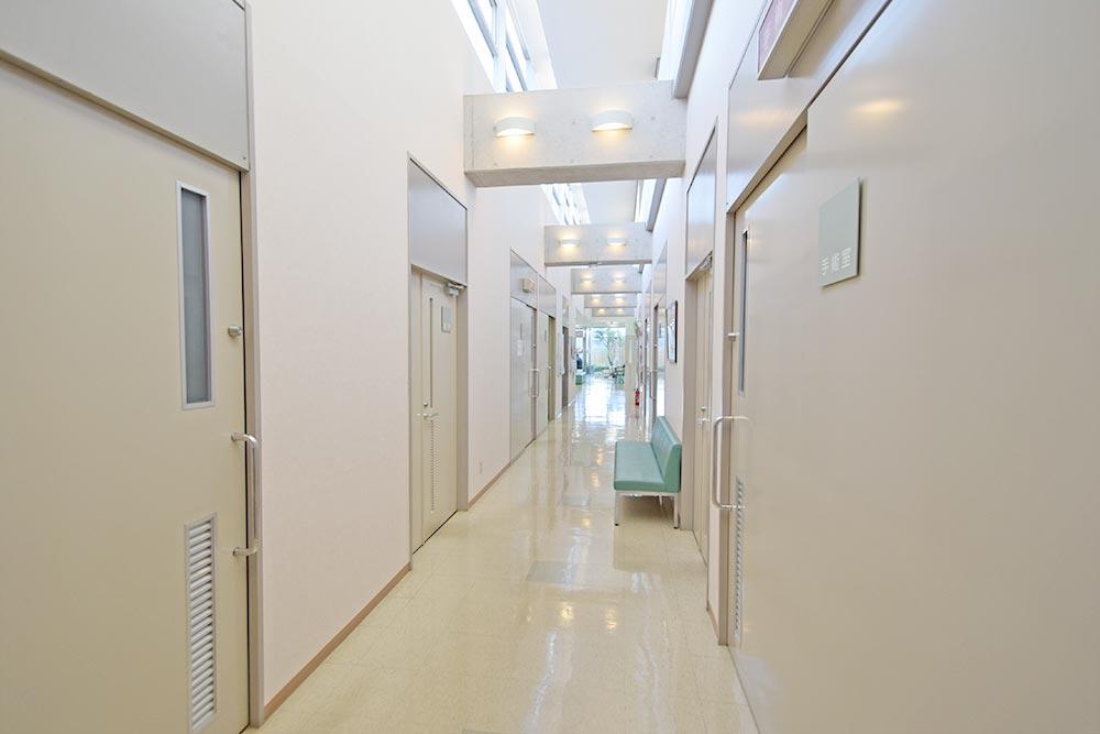 診察室の廊下です